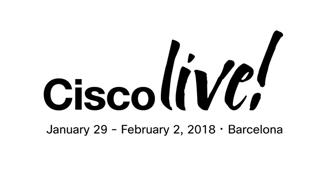 Cisco Live in Barcelona in January 2018
